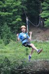 Zipline across our lake