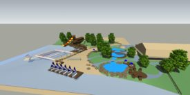 Camp Jewell's Waterfront of the Future includes Tt's Grotto a waterpark designed for non-swimmers to be able to build confidence interacting with the lake water, and a new Sailboat Dock that will keep the boats from running aground as inexperienced sailors learn the ropes!