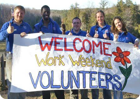 Welcome Work Weekend Volunteers